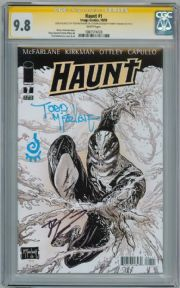 Haunt #1 CGC 9.8 Signature Series Signed Todd McFarlane Sketch Robert Kirkman Image comic book